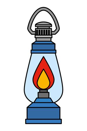 kerosene lantern light isolated icon vector illustration design Standard-Bild - 129883323