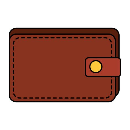 wallet money financial isolated icon vector illustration design Illustration