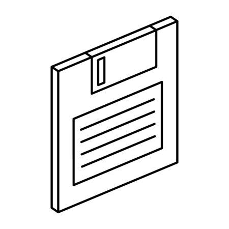 L'icône de stockage de données sur disquette conception d'illustration vectorielle