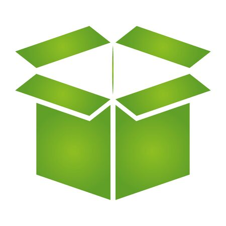 green cardboard box eco friendly on white background vector illustration 版權商用圖片 - 129930692