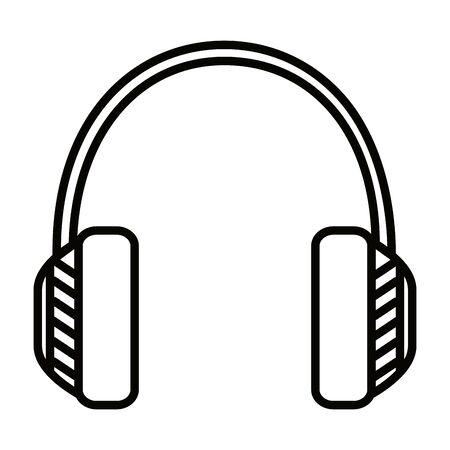 audio headset device isolated icon vector illustration design