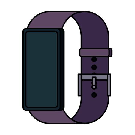 smartwatch weareable technology device vector illustration design 向量圖像