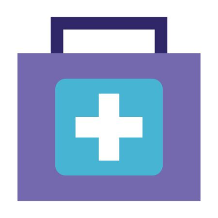 medical kit first aid on white background vector illustration