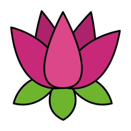 indian lotus flower nature icon vector illustration design Illustration