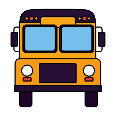 transport bus school on white background vector illustration Ilustração