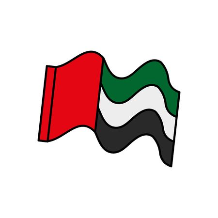 United Arab Emirates flag waving vector illustration design 스톡 콘텐츠 - 129944225