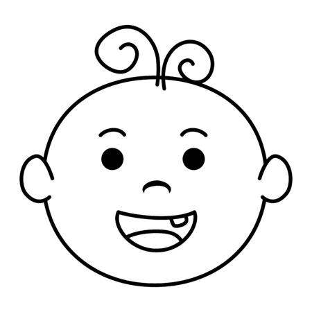 cute little baby boy character vector illustration design Illusztráció