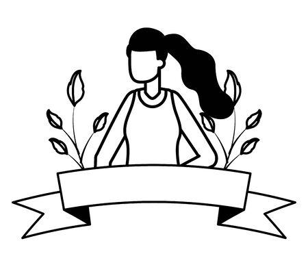 gardener woman plants work gardening design vector illustration 向量圖像