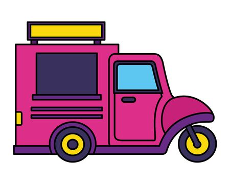 food truck on white background vector illustration Stock Illustratie