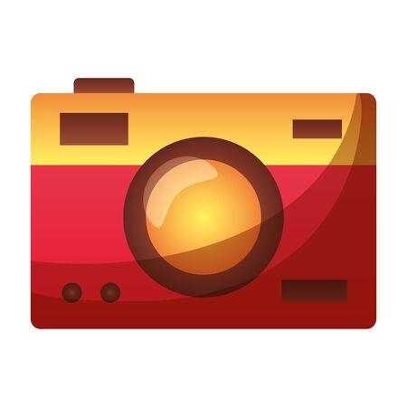 photographic camera device icon on white background vector illustration