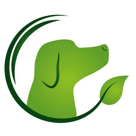 cane eco-friendly ambiente emblema illustrazione vettoriale