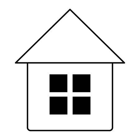 smart home on white background vector illustration