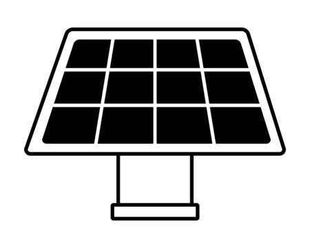 solar panel energy on white background vector illustration 向量圖像