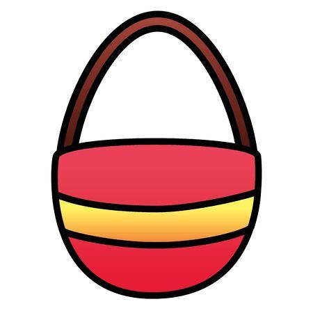 handbag accessory on white background vector illustration