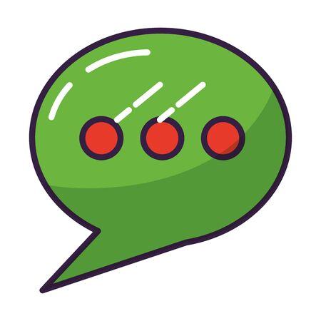 talk bubble on white background vector illustration