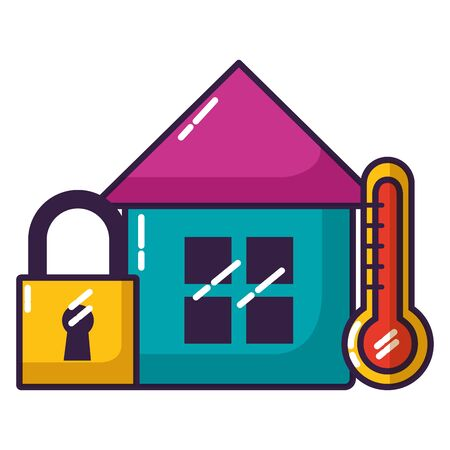 smart home security thermometer wifi free connection vector illustration Foto de archivo - 129858635