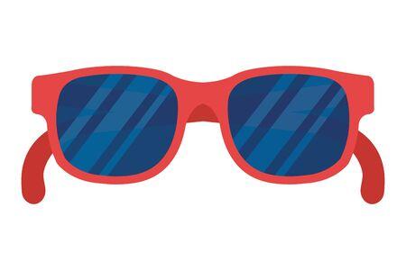 summer sunglasses optical accessory icon vector illustration design
