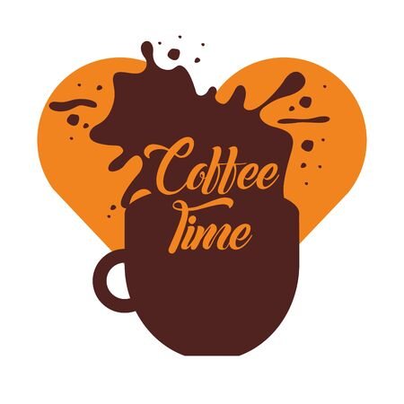 Coffee cup design, Drink breakfast beverage bakery restaurant and shop theme Vector illustration  イラスト・ベクター素材