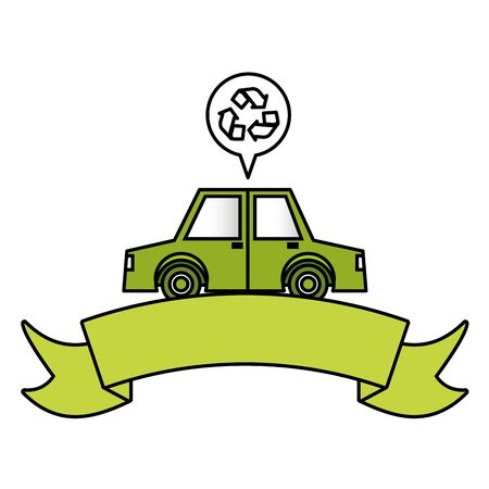 car vehicle transport eco friendly environment vector illustration 일러스트