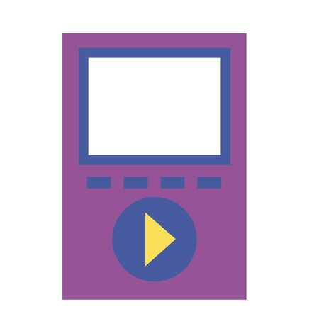 mp3 music device on white background vector illustration