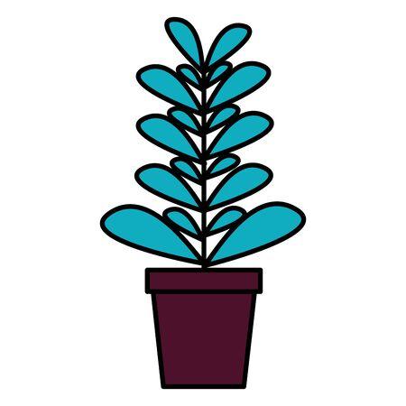 plant in pot decoration icon vector illustration