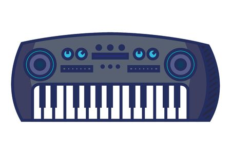 synthesizer musical instrument isolated icon vector illustration design Ilustrace