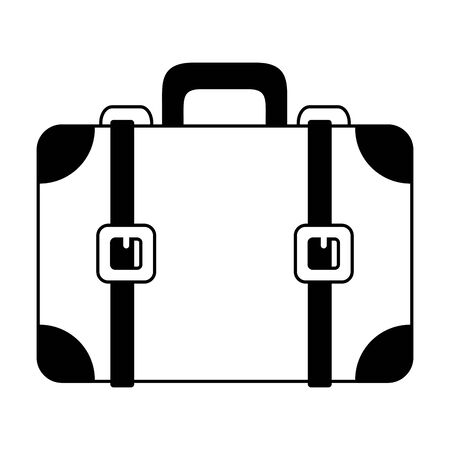 suitcase travel on white background vector illustration Иллюстрация