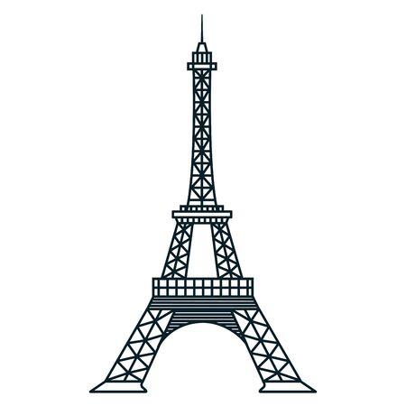 france eiffel tower landmark famous vector illustration
