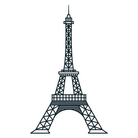 france eiffel tower landmark famous vector illustration