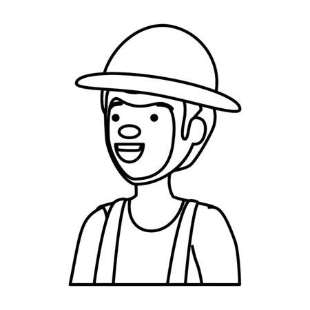 circus clown comic character vector illustration design 스톡 콘텐츠 - 129937357