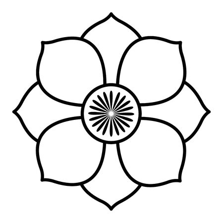indian lotus flower nature icon vector illustration design Ilustração