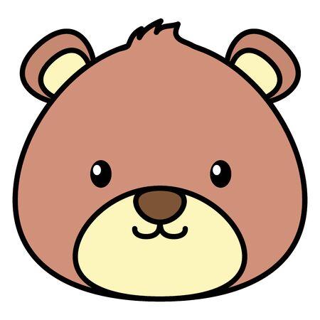 cute bear teddy stuffed icon vector illustration design