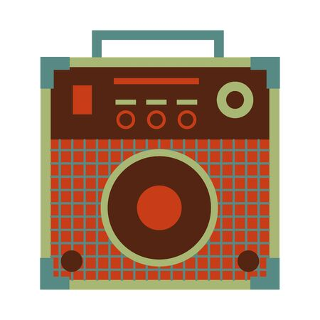 sound amplifier festival music on white background vector illustration