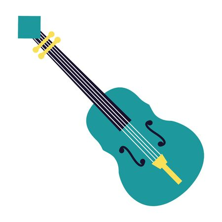 fiddle instrument music festival on white background vector illustration Фото со стока - 129937618