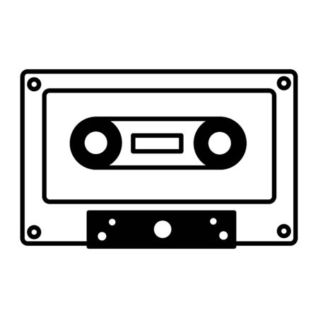 retro cassette tape on white background vector illustration Reklamní fotografie - 129937726