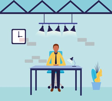 Businessman design, Man business management corporate job occupation and worker theme Vector illustration Illustration