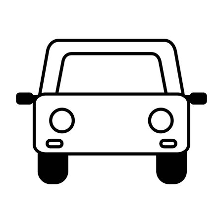 car vehicle transport on white background vector illustration
