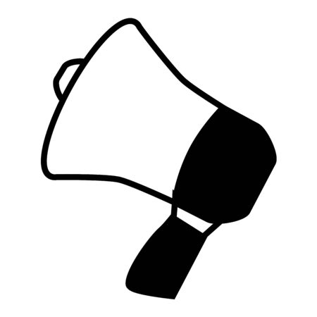 megaphone speaker on white background vector illustration Stockfoto - 129937811