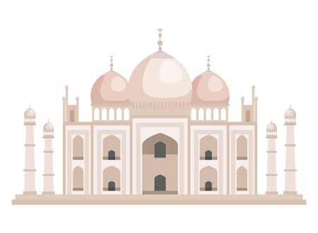 taj mahal indian building icon vector illustration design