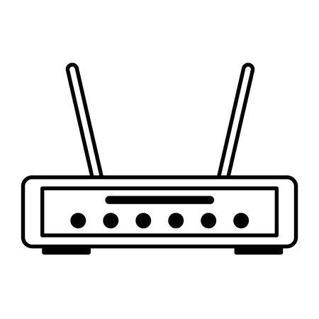 Router-Internet auf weißem Hintergrund-Vektor-Illustration Vektorgrafik