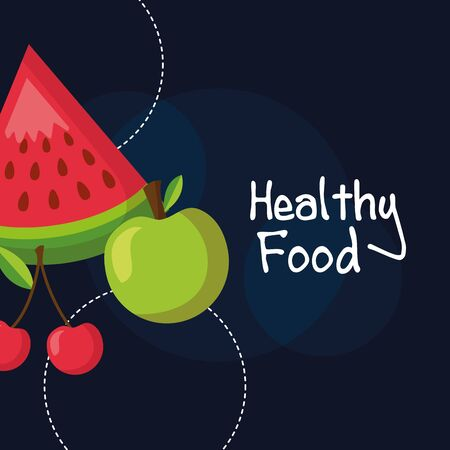 Healthy and organic food design, Fresh natural market product quality and eco theme Vector illustration Archivio Fotografico - 129938161