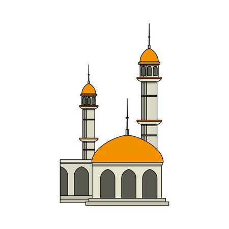 mosque building palace isolated icon vector illustration design