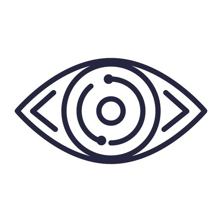 Auge Mensch isoliert Symbol Vektor Illustration Design