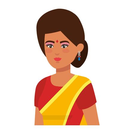 beautiful woman from india character vector illustration design Banque d'images - 129894370