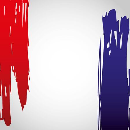 flag of france grunge style happy bastille day flat design vector illustration  イラスト・ベクター素材