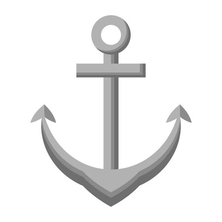 anchor marine nautical symbol icon vector illustration