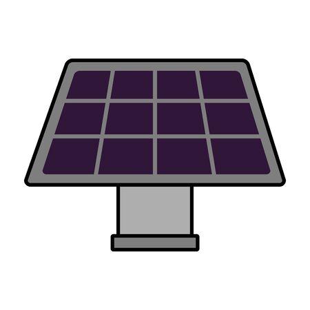 solar panel energy on white background vector illustration Ilustração