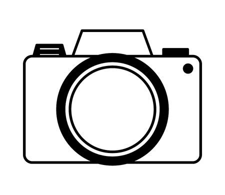 photographic camera device icon on white background vector illustration Фото со стока - 129984415
