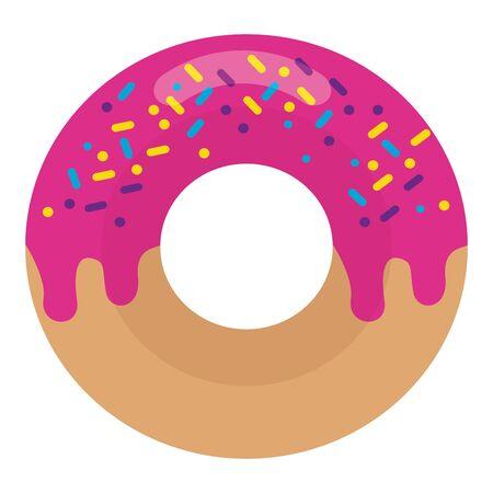 sweet donut on white background vector illustration Ilustração
