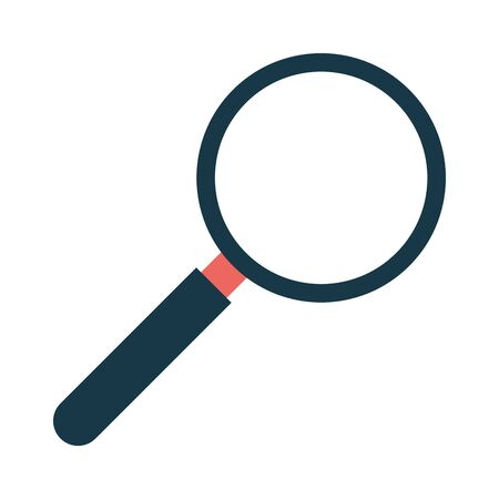 magnifier glass on white background vector illustration